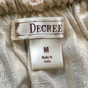 Decree Skirts - DECREE ROSE GOLD TULLE DOUBLE LAYER SKIRT SIZE M